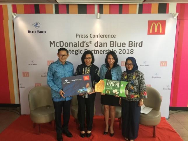 Blue Bird jalin kerja sama dengan McDonald's pada Kamis (25/1). (Dok. Industry.co.id)