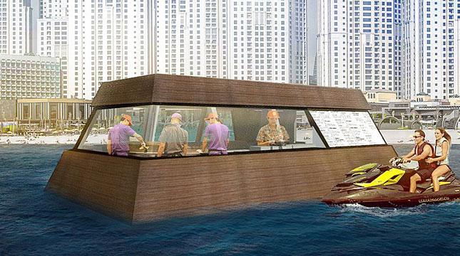 Aqua Pod, Food Truck Terapung Pertama di Dubai (Foto:timeoutdubai.com)