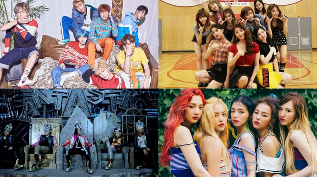 BTS, TWICE, BIGBANG, Red Velvet (Foto: Soompi)
