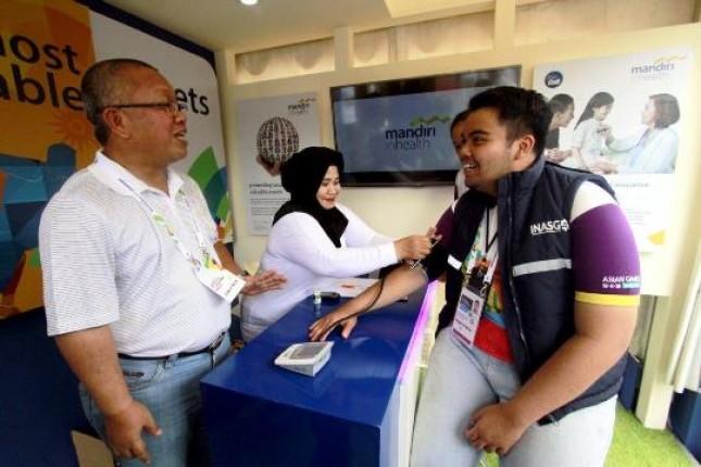 Mandiri Inhealth Menjadi Partner Asuransi Kesehatan pada Test Event Asian Games (Foto Rizki Meirino)