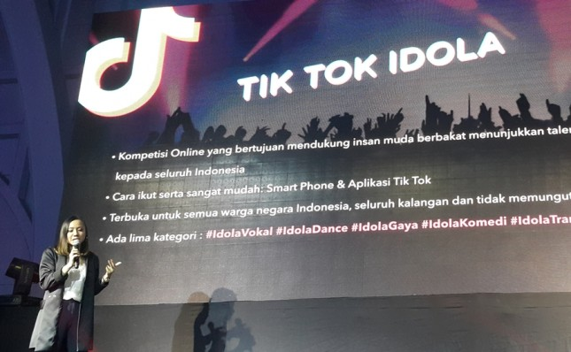 Aplikasi Tik Tok adakan kompetisi online 'Tik Tok Idola'. (Foto: Dina Astria/Industry.co.id)