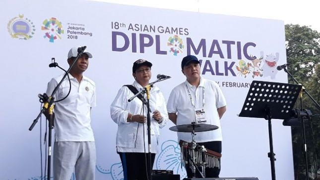 Menlu Retno Marsudi mengajak Duta Besar negara sahabat untuk melihat kesiapan Indonesia sebagai tuan rumah Asian Games