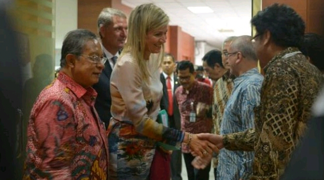 Ratu Maxima bertemu Menko Darmin (ist)
