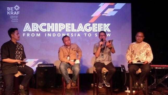 Badan Ekonomi Kreatif (Bekraf) kembali memperkenalkan sederet produk ekonomi kreatif (ekraf) dan talenta terbaik Indonesia melalui Pavilion Archipelageek di festival seni kreatif dan teknologi terbesar dunia, South by Southwest (SXSW) 2018