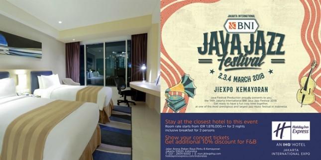 Holiday Inn Express Jiexpo Tawarkan Kesempatan Dapat Tiket Java Jazz Festival. (dok Industry.co.id)