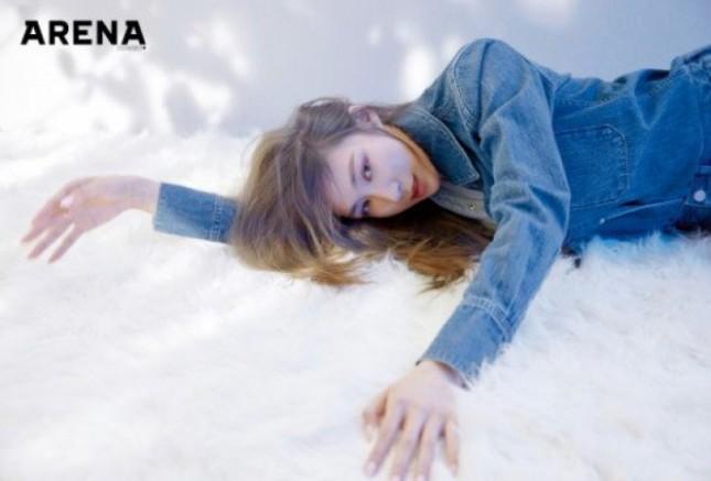 Tiffany Hwang dalam majalah Arena Homme Plus. (Dok Arena Homme Plus)