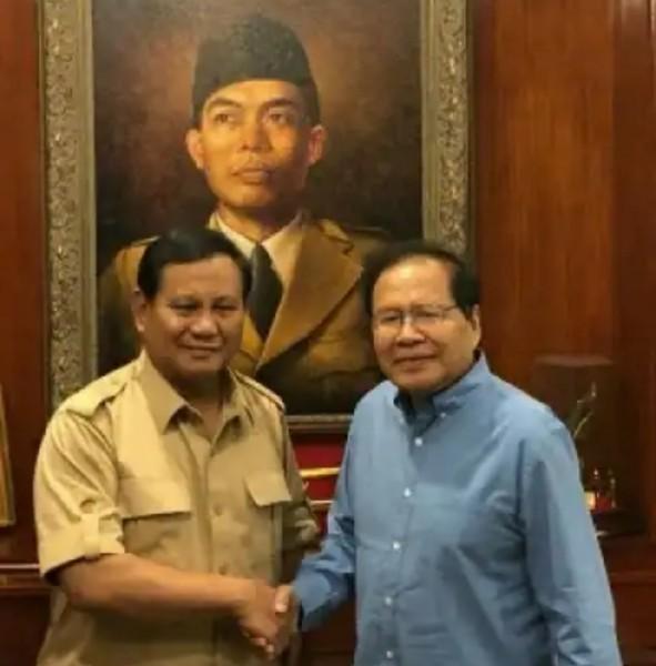 Prabowo Subianto bersama Rizal Ramli