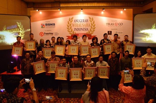 Sebanyak 21 Wirausaha Raih Anugerah Wirausaha Indonesia 2016