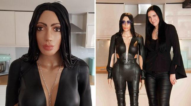 Kue Berbentuk Kim Kardashian (Foto: Adel Hanna/Cover Images)