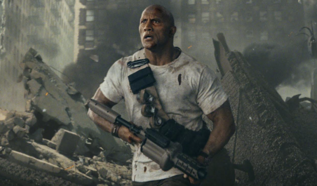 Trailer film Rampage, yang dibintangi oleh Dwayne The Rock. (Source: YouTube)
