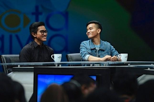 Gibran dan Kaesang dalam salah satu acara talkshow. (Source: Youthmanual)