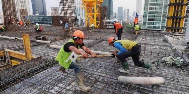 Ilustrasi pekerja proyek infrastruktur pemerintah (Foto: Istimewa)