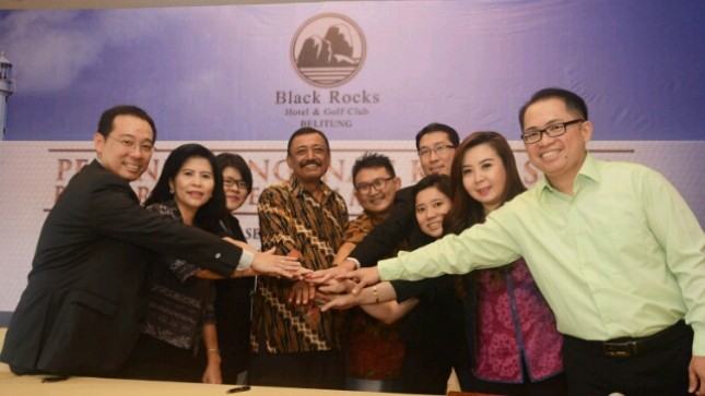 Penandatanganan kerja sama PT Belitung Golf and Resort bersama Projek dan 7 master agen franchise properti (Foto: Istimewa)