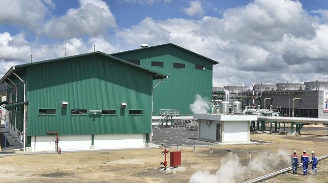 PLTP Lahendong milik PT Pertamina Geothermal Energy di Kabupaten Minahasa, Sulawesi Utara, memiliki kapasitas 2x20 MW dengan total investasi sebesar US$282,07 juta. (ANTARA/Puspa Perwitasari)