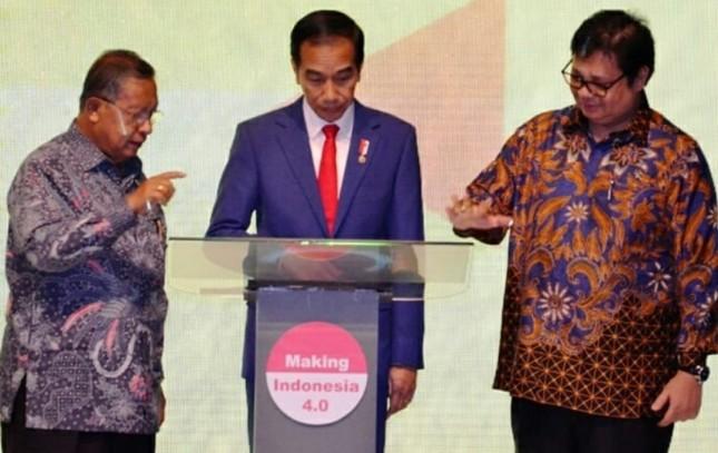 Presiden Jokowi buka acara Roadmap Industri 4.0