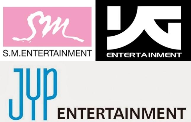 Tiga agensi terbesar di Korea Selatan, SM Entertainment, YG Entertainment dan JYP Entertainment. (Foto Ist)