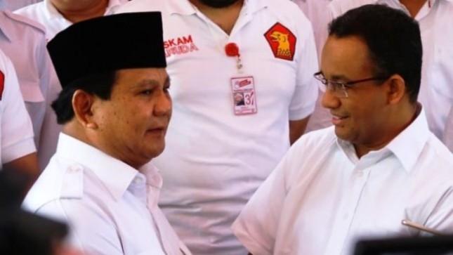 Ketum Gerindra Prabowo Subianto dan Anies Baswesan (Foto Dok Industry.co.id)