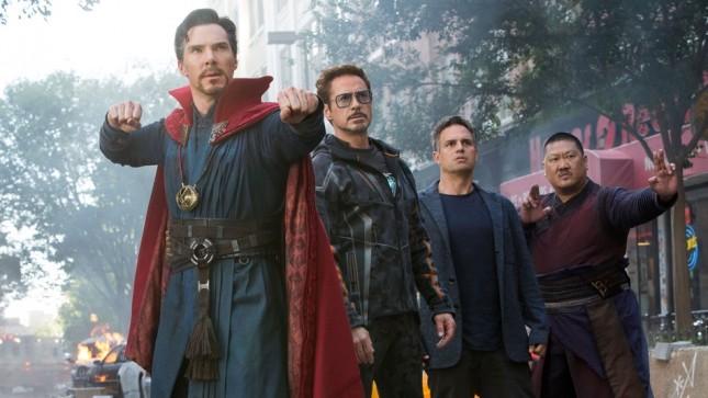 Salah satu scene Doctor Strange, Iron Man dan Hulk dalam film Avengers. (Foto: Mashable)