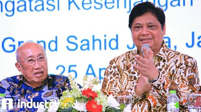 Menteri Airlangga pada Musyawarah Nasional Asosiasi Pengusaha Indonesia (Apindo) ke-10