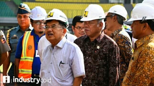 Wapres Jusuf Kalla dan Menteri Basuki Tinjau Kesiapan Venue Asian Games