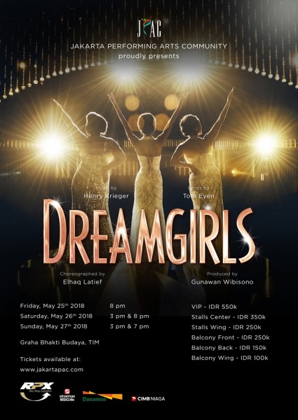 Main poster drama musikal 'Dreamgirls'. (Foto: JPAC)