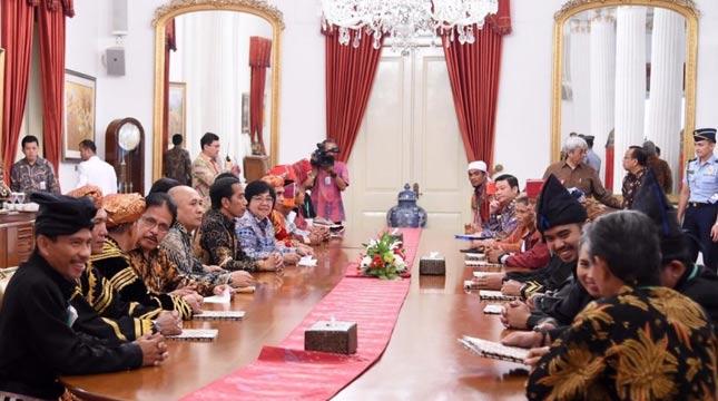Presiden jokowi pada acara Peresmian Pengakuan Hutan Adat