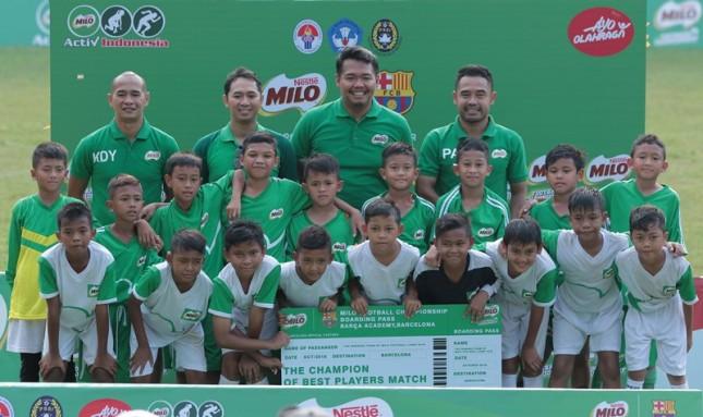 Para pemenang MILO Football Championship 2018
