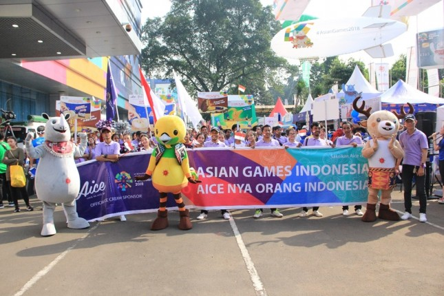 Aice dalam Parade Asian Games 2018