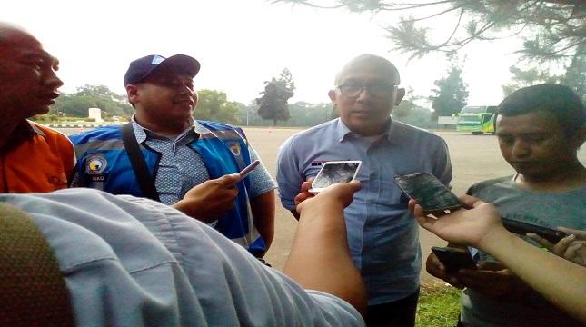 Yayan Irman Suryana, Pengurus Besar IPOMI, Bintarto Agung, Widiyatmoko Nursejati, AVP Traffic Management JSMR dan President Direktor Indonesian Defensive Driving Center (kiri ke kanan)