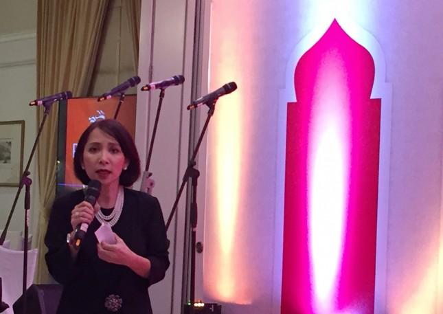 Director of Corporate Marketing and Communications PT Prudential, Nini Sumohandoyo dalam acara buka bersama Prudential Indonesia di The Hermitage Hotel, Jakarta pada Selasa (5/6) kemarin. (Dina Astria/Industry.co.id)
