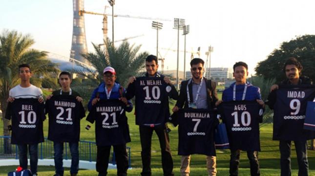 Para Pemenang Kampanye Ooredoo Bertemu Pemain Paris Saint-Germain