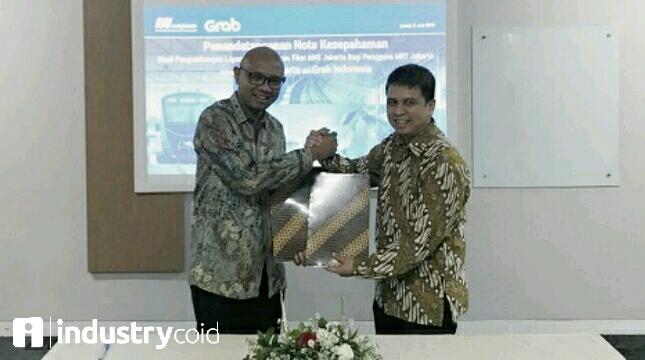 Grab kerjasama dengan MRT Jakarta