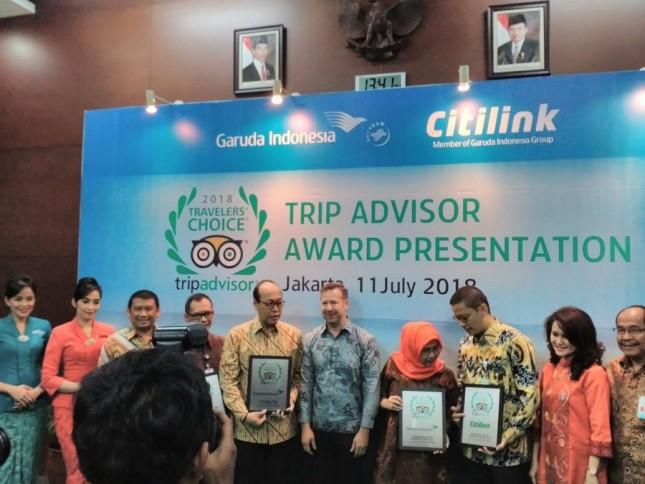 Garuda Indonesia dan Citilink Raih Penghargaan dari TripAdvisor (Foto: Anisa Triyuli)