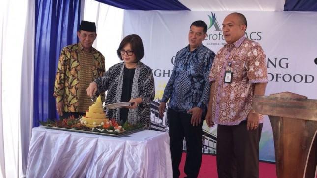 Peresmian lini usaha flight kitchen Garuda Indonesia Group dan Aerofood ACS di Bandara Internasional Lombok