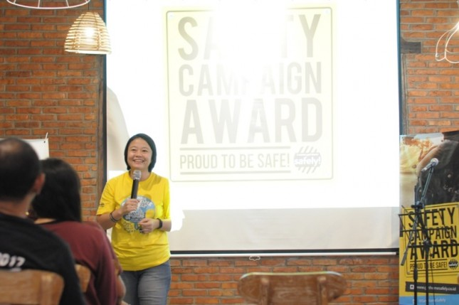 Tanny M, Business Development Division Head, resmi membuka Safety Campaign Award 2018