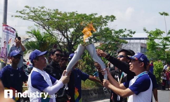 Pawai api obor Asian Games 2018 (Fito Rizki Meirino)