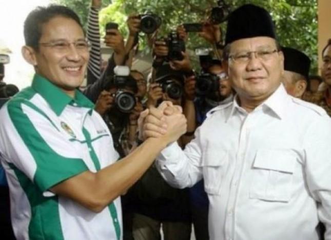 Ketum Gerindra Prabowo Subianto dan Sandiaga Uno (Foto Dok Industry.co.id)