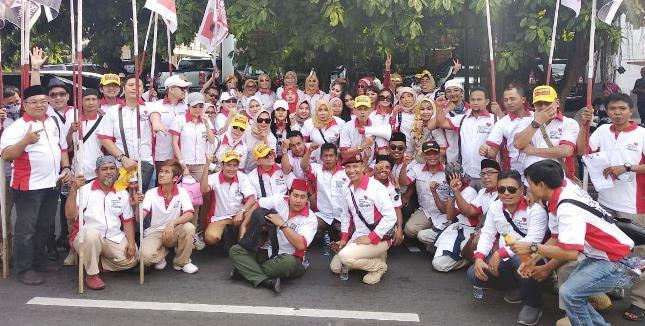 Para artis, seniman, musisi yang Tergabung dalam Gerakan Artis Cinta Prabowo (GACP)