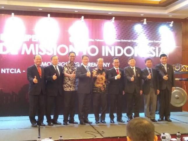 Pemerintah kota New Taipei melalui Taiwan External Trade and Development Council menjajaki kerjasama bilateral bidang perdagangan antara Taiwan dengan Indonesia dengan Indonesia Taiwan Business Council (ITBC).
