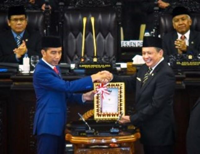 Presiden Jokowi dan Ketua DPR (Foto Setkab)
