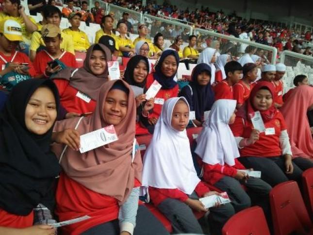 BNI Syariah Ajak Yatim Duafa Nonton Asian Games (Foto Dok Industry.co.id)