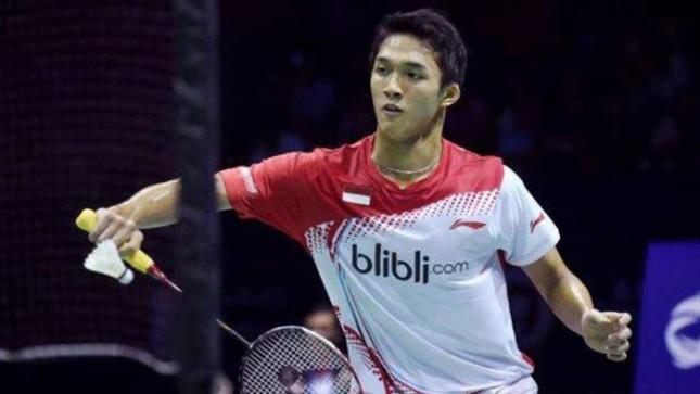 pebelutangkis Indonesia, Jonatan Christie alias Jojo berhasil mengalahkan mengalahkan pemain Taiwan, Chou Tien Chen di final tunggal putra bulutangkis (Foto:IST)