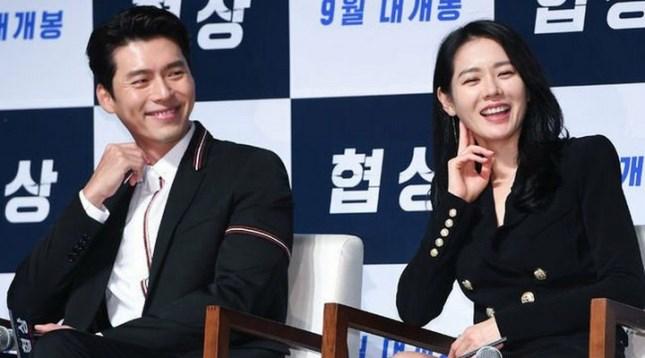 Son Ye Jin dan Hyun Bin yang bermain dalam Film Negotiation yang akan tampil di Korean Indonesian Film Festival
