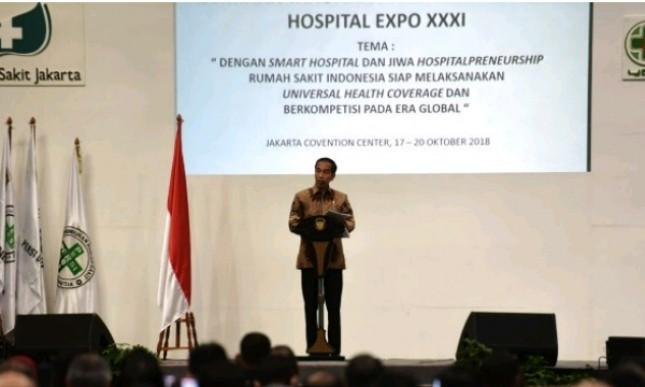 Presiden Jokowi saar memberikan sambutan pada Kongres XIV PERSI (Foto: Setkab)
