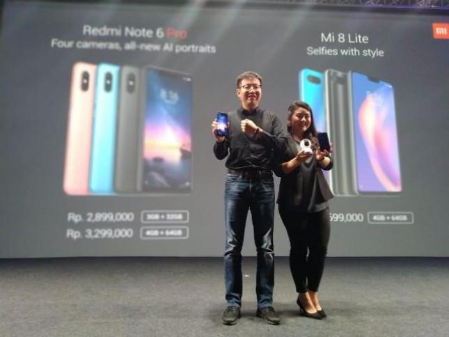 Xiaomi resmi memperkenalkan Redmi Note6 Pro dan Mi 8 Lite.