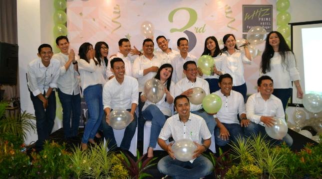 Perayaan Ulang Tahun ke-3 Whiz Prime Hotel Pajajaran Bogor