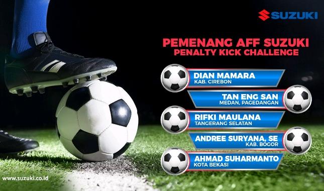 Suzuki Umumkan Pemenang AFF Suzuki Penalty Kick Challenge