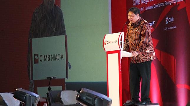 Menteri Perindustrian Airlangga Hartarto. (Ridwan/INDUSTRY.co.id)