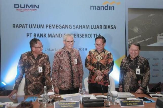 Dirut Bank Mandiri Kartika Wirjoatmodjo (Foto Rizki Meirino)