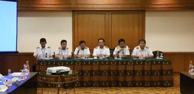 Puluhan pilot resmi membentuk organasasi Perhimpunan Profesi Pilot di Indonesia (PPPI), Kamis (10/1/2019)